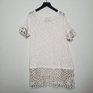 Anthro Saturday Sunday Spalliera Cream Lace Tunic